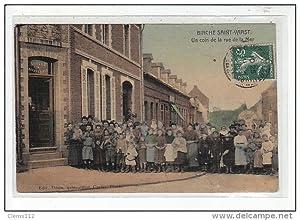 Carte postale ancienne BIACHE-ST-VAAST : un coin de la rue de la mer (toilée)