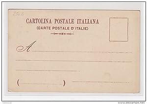 """Carte postale ancienne """" les fêtes de Mai"""" à Bologne en 1902 illustrée par Franzoni"""