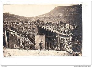 Carte postale ancienne AIN - BELLEY CARTE PHOTO - Eboulement - photographe: P. Marcelin