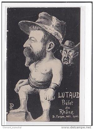 Carte postale ancienne VERMOREL : préfet du rhone (caricature)