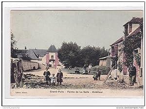 Carte postale ancienne GRAND-PUITS : ferme de la salle, extérieur