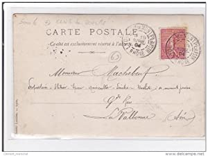 """Carte postale ancienne """"La Valboule"""" : club de boules à Lyon (concours en 1904)"""