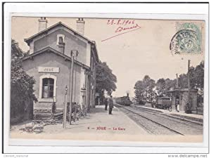 Carte postale ancienne JOUE : la gare (GARE)