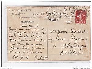 Carte postale ancienne VILLEFRANCHE : un concours