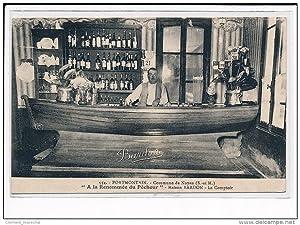 """Carte postale ancienne PORTMONTAIN : Commune de Noyen """"A la Renommée du Pêcheur"""" Maison ..."""