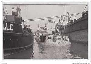 Carte postale ancienne SAINT BREVIN L'OCEAN : carte photo du bateau Saint Philibert (coulé)