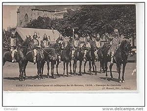 Carte postale ancienne SAINT BRIEUC - Fêtes historiques et celtiques 1906 - Groupe de Gaulois