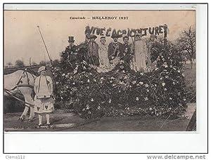 Carte postale ancienne MELLEROY 1927 - Cavalcade