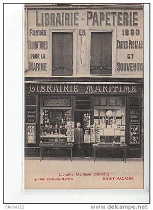 Carte postale ancienne SAINT NAZAIRE - Librairie Maritime Dariès - CARTES POSTALES