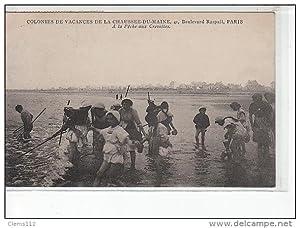 Carte postale ancienne COUTAINVILLE - Colonie de vacances de la Chaussée du Maine - A la pêche aux ...