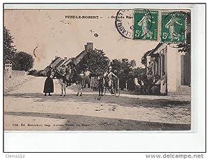 Carte postale ancienne PEZÉ LE ROBERT - Grande Rue