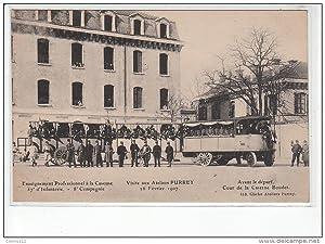 Carte postale ancienne BORDEAUX : train renard système PURREY (militaires )