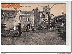 Carte postale ancienne MONTEILS - Place de