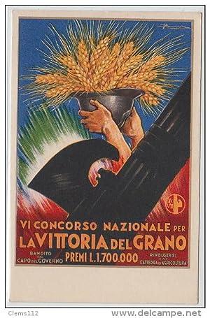 """Carte postale ancienne BUSI Adolpho : """"concorse nazionale per la vittoria del Grano"""""""