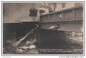 Carte postale ancienne CIERP : carte photo de l'inondation en 1925