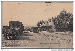 Carte postale ancienne SEVERAC LE CHATEAU : la gare