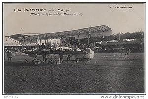 Carte postale ancienne CHALON AVIATION en 1911 : Junod