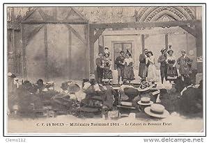 Carte postale ancienne ROUEN : millénaire normand 1911 - le cabaret du Pommier Fleuri