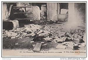 Carte postale ancienne MERU : les grèves