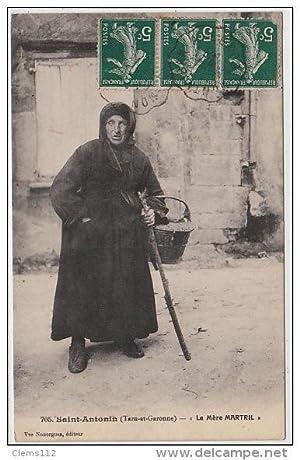 "Carte postale ancienne SAINT ANTONIN : la ""mère Martril"""