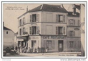 Carte postale ancienne CONDE EN BRIE : hôtel de l'Est - façade