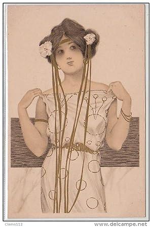 """Carte postale ancienne KIRCHNER Raphaël : """"Greek Vergins"""" en 1900"""