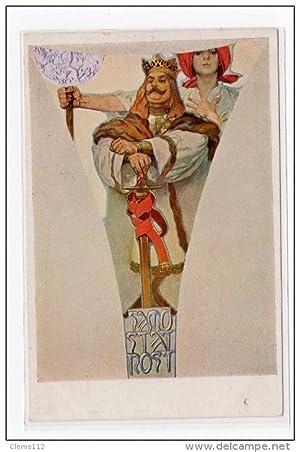 Carte postale ancienne MUCHA Alfons : période tchèque