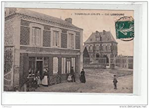 Carte postale ancienne TOURVILLE LES IFS - Café Lebourc