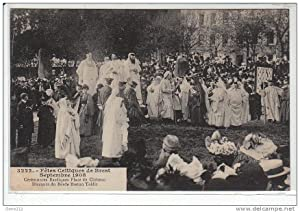 Carte postale ancienne BREST : fêtes celtiques - septembre1908 - cérémonie bardique place du Château