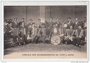 Carte postale ancienne VITRY SUR SEINE : amicale des accordéonistes