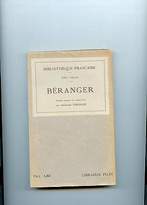 P.-J. DE BERANGER . Textes choisis et: BERANGER