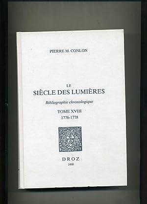 LE SIÈCLE DES LUMIÈRES. Bibliographie chronologique. Tome: CONLON (Pierre M.)