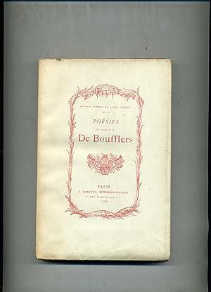 POÉSIES DIVERSES du Chevalier de BOUFFLERS. Avec: BOUFFLERS ( Stanislas,