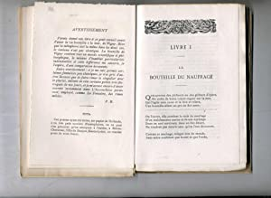 LA BOUTEILLE DU NAUFRAGE . ( POÉSIES ): BOYER ( Pierre ) ( Velay 1836-1916 )