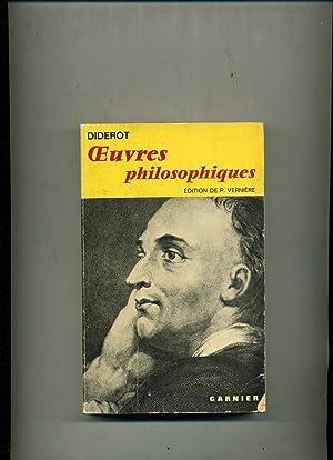 OEUVRES PHILOSOPHIQUES. Edition de P. Vernière.Textes établis: DIDEROT (Denis)