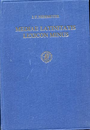 MEDIAE LATINITATIS LEXICON MINUS. Lexique Latin Médieval-Médieval Latin/French/English Dictionary