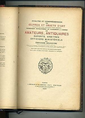 ANALYSE ET COMPRÉHENSION DES OEUVRES ET OBJETS D'ART (Antiquité, Moyen-Age, Renaissance, temps ...