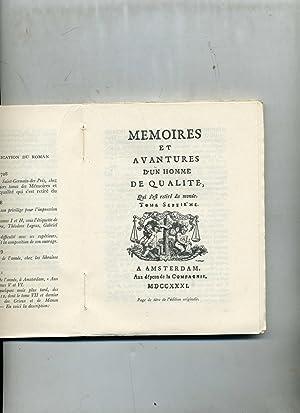 HISTOIRE DU CHEVALIER DES GRIEUX ET DE MANON LESCAUT. Texte et orthographe de l'édition de 1753...