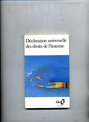 DECLARATION UNIVERSELLE DES DROITS DE L'HOMME. (En