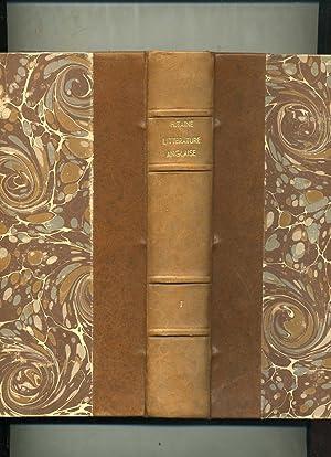 HISTOIRE DE LA LITTÉRATURE ANGLAISE. ( 4 VOLUMES ) Edition originale: Taine (Hippolyte-Adolphe)