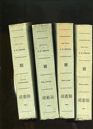 OEUVRES DE J.F. DUCIS . Nouvelle édition .( 3 volumes ,complet)- OEUVRES POSTHUMES DE J.F. DUCIS ...
