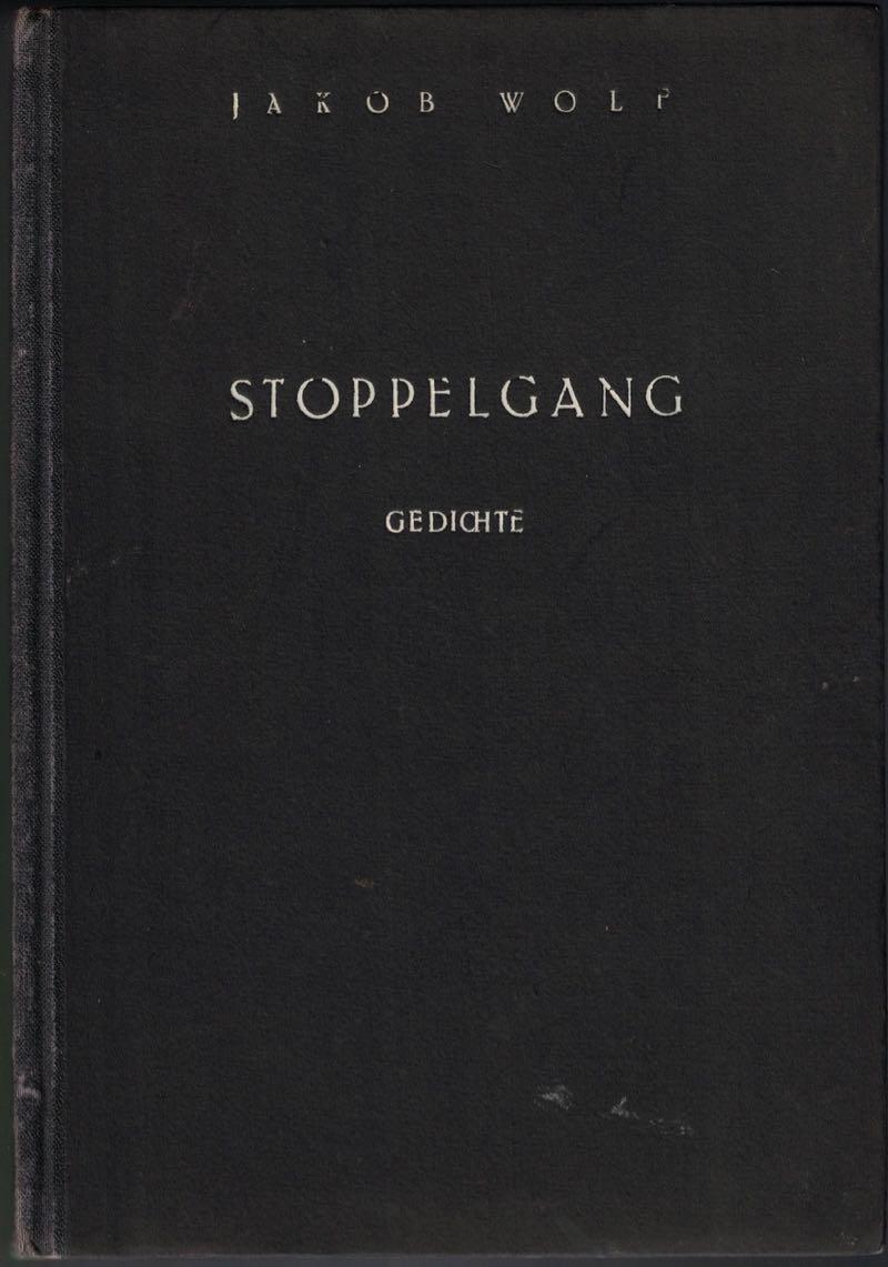Stoppelgang Gedichte Eines Vertriebenen