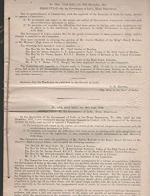 East India (Sedition Committee - 1918). Report: SEDITION COMMITTEE]