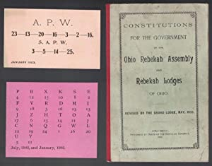Constitutions for the Government of the Ohio Rebekah Assembly and Rebekah Lodges of Ohio. Revised...