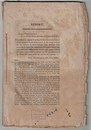 Report. House of Representatives of the United States, Tuesday, February 26th, 1811. : The commit...