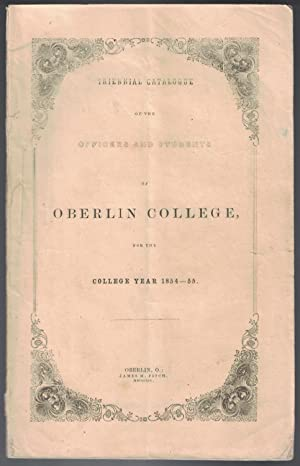 [AFRICAN-AMERICANA] [WOMEN] Triennial catalogue of the officers and students of Oberlin College, ...