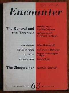 Encounter: December 1958 Volume XI No. 6: Spender, Stephen and