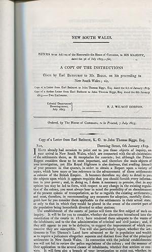 REPORT OF THE COMMISSIONER OF INQUIRY (2),: Bigge, John Thomas