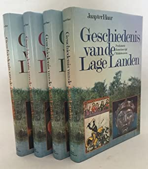 Geschiedenis van de Lage Landen. [kleureneditie, 4 delen compleet, met illustraties van Rien ...