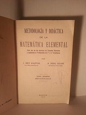 METODOLOGIA Y DIDACTICA DE LA MATEMATICA ELEMENTAL Para Uso De Los Alumnos De Escuelas Normales y ...